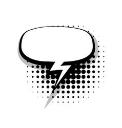Blank template comic speech oval dialog vector image vector image