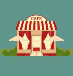 cafe street shop building vector image