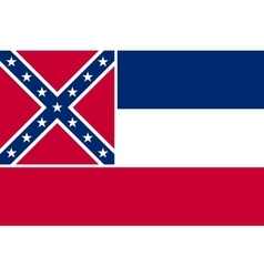 Flag of Mississippi correct size colors vector image