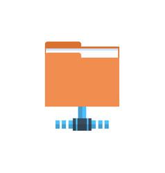 Folder data access icon cloud computer connection vector