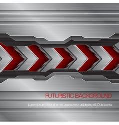 futuristic metallic background vector image