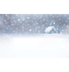 Winter house snowfall vector