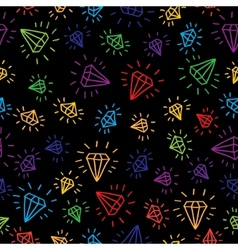 Cartoon diamond seamless background Template for vector image