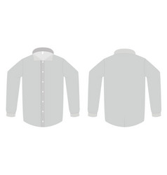 dress shirt or blouse template vector image vector image