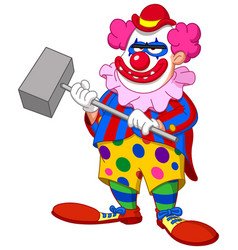 evil scary clown vector image