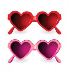 sunglasses heart shape vector image vector image