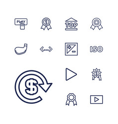 13 badge icons vector