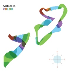 Abstract color map of Somalia vector