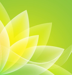 Abstract Green Flower Background Royalty Free Vector Image