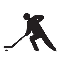 Abstract hockey symbol vector
