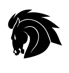 Angry horse head icon vector
