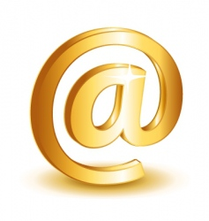 at mail icon vector image