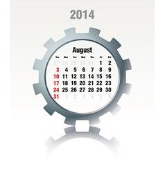 August 2014 - calendar vector image vector image
