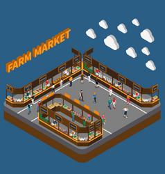 Bazaar farm market composition vector