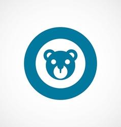 Bear toy bold blue border circle icon vector