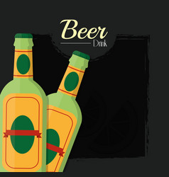 beers alcohol drink vector image