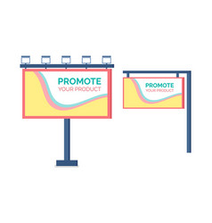 billboard promote product hanging canvas vector image