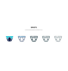 briefs icon in different style two colored and vector image