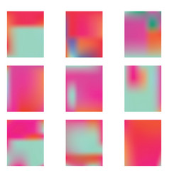 bright blurred graphics from various combinations vector image