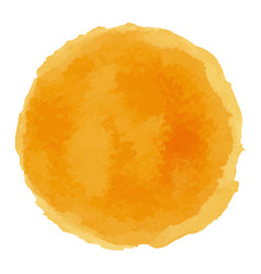 bright orange watercolor painted stain vector image vector image