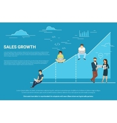 Business graph growth concept vector
