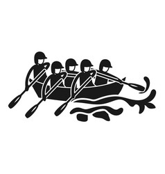 Canoeing rafting icon simple style vector