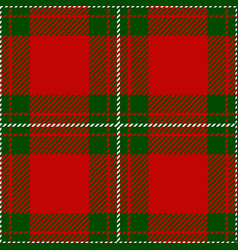 Clan macgregor scottish tartan plaid pattern vector