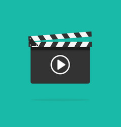 Clapperboard icon isolated on color vector