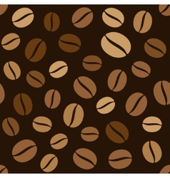 Coffee Beans Seamless Pattern on Dark Background vector image