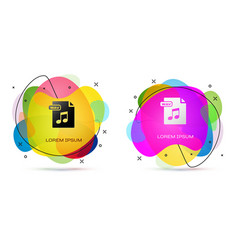 Color wav file document download wav button icon vector