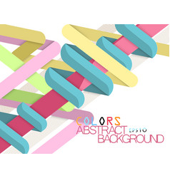 Colors shape abstract modern style vector