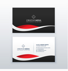 Creative dark business card design vector