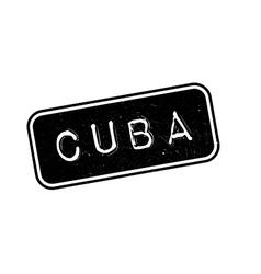 Cuba rubber stamp vector