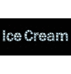 Diamond word Ice Cream vector
