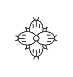 Dianthus line icon concept dianthus flat vector