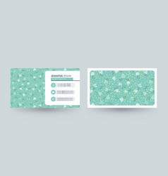 double-sided horizontal business card template vector image
