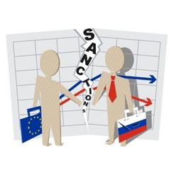 Europe sanctions against Russia vector image