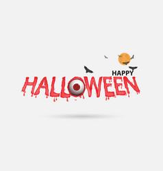 eyes amp halloween banner vector image