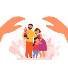 family protection protect people parents vector image
