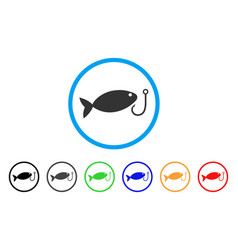 fish hook rounded icon vector image