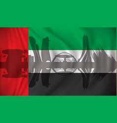 Flag of united arab emirates with abu dhabi vector