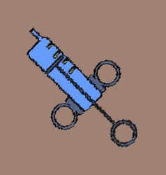 Flat shading style icon syringe vector