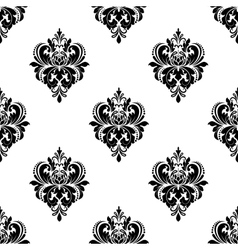 Floral seamless arabesque pattern with damask vector