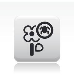 Flower parasite icon vector