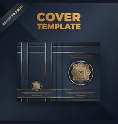 Flyer brochure design template cover business vector