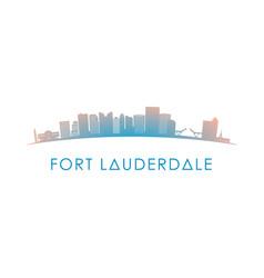 fort lauderdale skyline silhouette design vector image