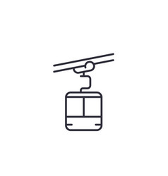 Funicular linear icon on white vector
