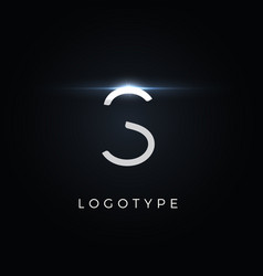 futurism style letter s minimalist type for vector image