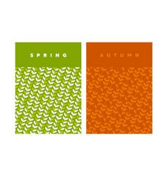 Green spring leaf geometric vintage pattern vector