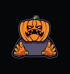 halloween pumpkin design vector image